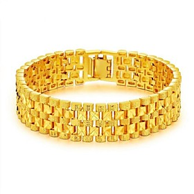 Men's Chain Bracelet Stylish Creative Fashion Dubai 18K Gold Bracelet Jewelry Gold For Party Daily