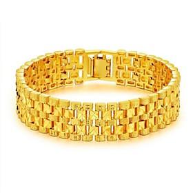 Men's Chain Bracelet Stylish Creative Fashion Dubai 18K Gold Bracelet Jewelry Gold For Party Daily