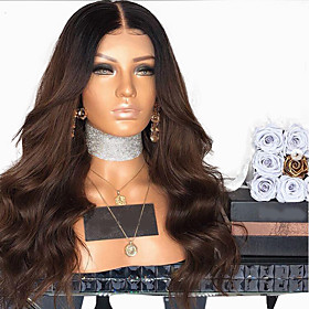 Synthetic Wig Body Wave Layered Haircut Wig Very Long Brown / Burgundy Synthetic Hair 58~62 inch Women's New Arrival Brown