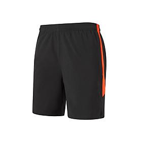 Men's Running Shorts Running Split Shorts Athletic Shorts Patchwork Sports Shorts Running Beach Fitness Breathable Quick Dry Soft Color Block Fashion Black / O
