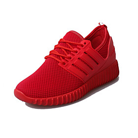Women's Trainers / Athletic Shoes Spring   Fall Flat Heel Round Toe Casual Daily Outdoor Tissage Volant Walking Shoes Black / Red