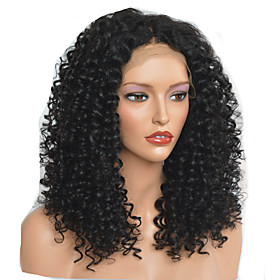 Synthetic Wig Afro Curly Layered Haircut Wig Medium Length Natural Black Synthetic Hair 40~44 inch Women's New Arrival Black