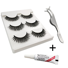 Eyelash Extensions 6 pcs Simple Women Ultra Light (UL) Comfortable Casual Convenient Animal wool eyelash Daily Wear Vacation Full Strip Lashes - Makeup Daily M