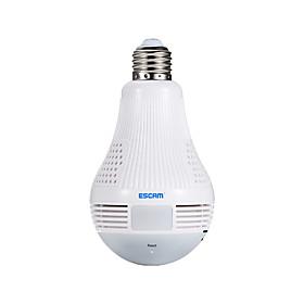Escam qp136 1.3mp 360 graus panorâmico lâmpada wi-fi câmera ip