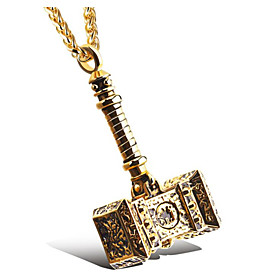 Men's Pendant Necklace Classic Totem Series Fashion Titanium Steel Gold Silver 56 cm Necklace Jewelry 1pc For Gift Daily