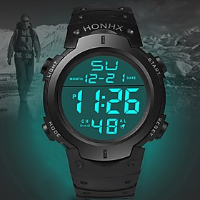 Men's Sport Watch Quartz Sporty Fashion Calendar / date / day Digital White Black Blue / One Year / Stainless Steel / Silicone / Noctilucent