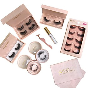 Eyelash Extensions 8 pcs Simple Women Ultra Light (UL) Comfortable Casual Convenient Animal wool eyelash Daily Wear Vacation Full Strip Lashes - Makeup Daily M