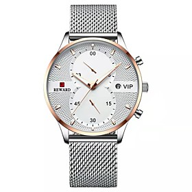 Men's Sport Watch Japanese Quartz Sporty Stylish Casual Water Resistant / Waterproof Analog - Digital White Black Blue / Two Years / Stainless Steel / Stainles