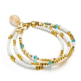 Ankle Bracelet Women's Body Jewelry For Party Daily Shell Alloy Gold