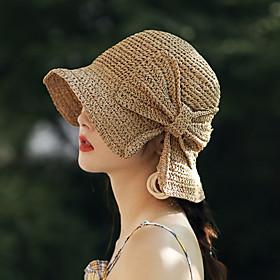 Women's Active Basic Cute Knitwear Fedora Hat Floppy Hat-Color Block All Seasons Blushing Pink Beige Khaki