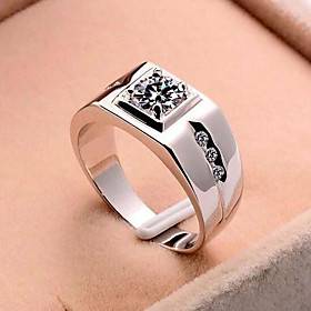 Open Ring Classic Silver Copper Platinum Plated Precious Simple Fashion 1pc Adjustable / Men's / Adjustable Ring