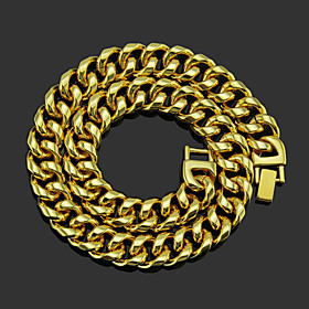 Men's Chain Necklace Beaded Necklace Classic Unique Design Fashion Gold Plated Chrome Gold Silver 51,60 cm Necklace Jewelry 1pc For Street / Chains