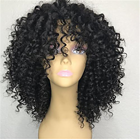 Remy Human Hair Lace Front Wig style Brazilian Hair Deep Curly Black Wig 130% Density Women's Short Human Hair Lace Wig beikashang