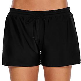 Women's Swim Shorts Swim Trunks Elastane Bottoms Swimming Beach Water Sports Patchwork Summer