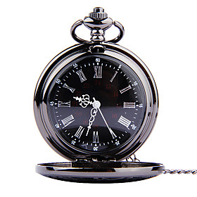 Men's Pocket Watch Quartz Vintage Style Vintage Casual Watch Analog Black