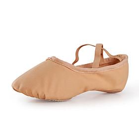 Women's Ballet Shoes Flat Flat Heel Canvas Pink / Camel / Performance / Practice