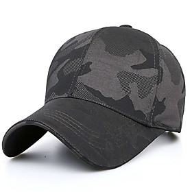 Men's Basic Cotton Baseball Cap-Galaxy Black Navy Blue Gray