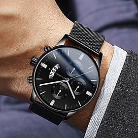 Men's Dress Watch Quartz Modern Style Stylish Stainless Steel Black 30 m Water Resistant / Waterproof Calendar / date / day Casual Watch Analog Luxury Fashion