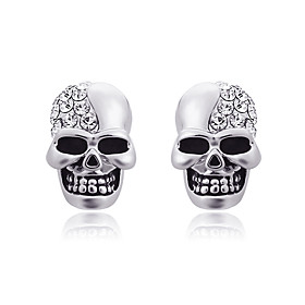 Men's Women's Stud Earrings Sculpture Skull Statement Unique Design Punk Baroque Gothic Stainless Steel Earrings Jewelry Rose Gold / Gold / Silver For Daily Ca