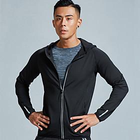 Men's Hoodie Sweatshirt Color Block Crew Neck Spandex Solid Color Sport Athleisure Hoodie Long Sleeve Breathable Quick Dry Moisture Wicking Comfortable Plus Si