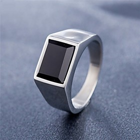 Men's Band Ring Ring 1pc Gold Silver Titanium Steel Circular Vintage Basic Fashion Daily Jewelry