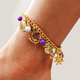 Ankle Bracelet Women's Body Jewelry For Party Daily Alloy Gold