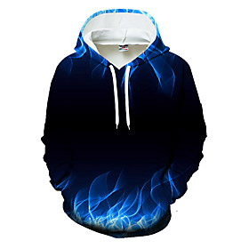 Men's Plus Size Hoodie Color Block / 3D Hooded Casual / Basic Black US32 / UK32 / EU40 US34 / UK34 / EU42 US36 / UK36 / EU44 US38 / UK38 / EU46 US40 / UK40 / E