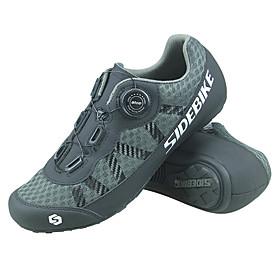 SIDEBIKE Adults' Bike Shoes Breathable Anti-Slip Road Bike Mountain Bike MTB Road Cycling Grey Men's Women's Cycling Shoes