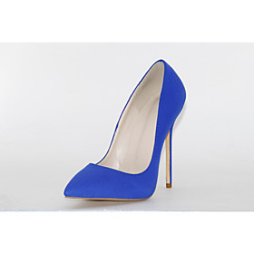 Women's Heels Stiletto Heel Pointed Toe Suede Spring   Fall Blue