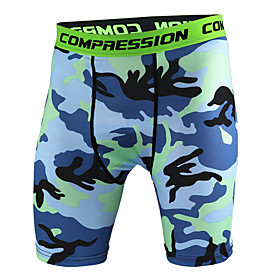 Men's Yoga Shorts Camo / Camouflage Running Fitness Gym Workout Shorts Activewear Breathable Moisture Wicking Quick Dry Butt Lift High Elasticity Skinny