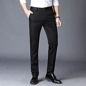 Men's Basic Dress Pants Pants - Solid Colored Black Khaki Navy Blue US34 / UK34 / EU42 / US36 / UK36 / EU44 / US38 / UK38 / EU46