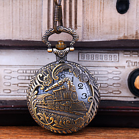 Men's Pocket Watch Quartz Vintage Style Hollow Engraving Creative New Design Analog - Digital Vintage - Bronze