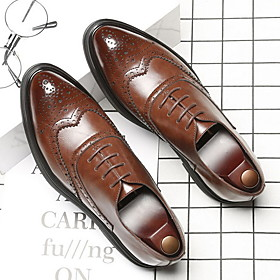 Men's Oxfords Bullock Shoes Daily Microfiber Breathable Black / Brown Summer