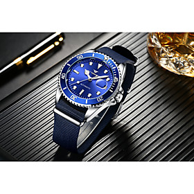 Men's Mechanical Watch Automatic self-winding Formal Style Modern Style Luxury Water Resistant / Waterproof Analog Black Blue Green / Nylon / Noctilucent
