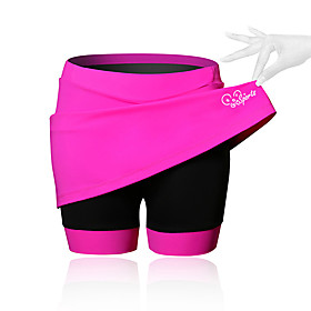 21Grams Women's Cycling Skirt Bike Shorts / Skirt / Padded Shorts / Chamois Breathable, 3D Pad Solid Colored, Patchwork, Classic Spandex Black / Blue