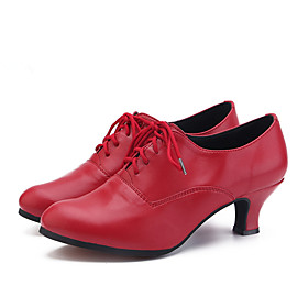 Women's Jazz Shoes Heel Cuban Heel EVA(ethylene-vinyl acetate copolymer) Black / Red / Pink / Performance