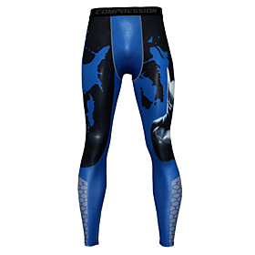 Men's Cycling Tights Bike Tights Bottoms Breathable Moisture Wicking Quick Dry Sports Camo / Camouflage Black / Red / Grey / Green / Black Mountain Bike MTB Cl