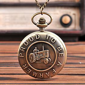 Men's Pocket Watch Quartz Vintage Style Vintage Creative Analog - Digital Bronze