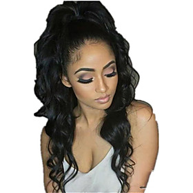Hair weave Ponytails Party / Women Human Hair Hair Piece Hair Extension Wavy 22 inch Daily Wear / Date / Street