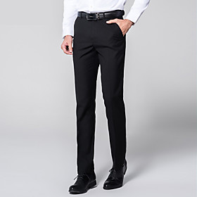 Men's Basic Dress Pants Pants - Solid Colored Classic Wine White Black US32 / UK32 / EU40 / US34 / UK34 / EU42 / US36 / UK36 / EU44