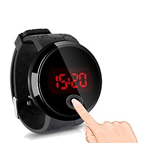Men's Digital Watch Digital Casual Luminous Digital White Black / Silicone