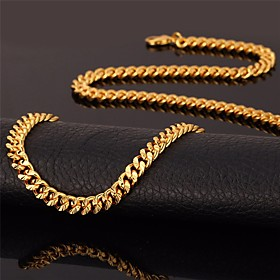Men's Choker Necklace Chain Necklace Mariner Chain Fashion 18K Gold Plated Gold Plated Alloy Rose Gold Black Gold Silver Necklace Jewelry For Wedding Party Dai