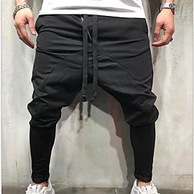 Men's Basic wfh Sweatpants Pants - Solid Colored Black Red Gray US32 / UK32 / EU40 US34 / UK34 / EU42 US36 / UK36 / EU44