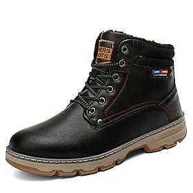 Men's Hiking Shoes Waterproof Windproof Quick Dry Comfortable Running Hiking Jogging Autumn / Fall Winter Black Brown Grey