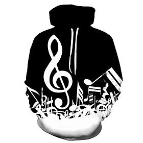Men's Hoodie Print 3D Hooded Party Casual Hoodies Sweatshirts  Black