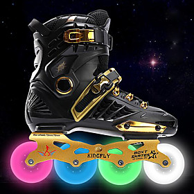 Men's / Women's Inline Skates Adults Wearable, LED Lights Flashing CNC Thicken Alloy - Black, White, Gold