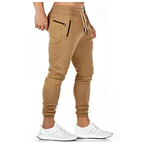 Men's Basic Chinos Pants Solid Colored Drawstring Black Army Green Khaki US32 / UK32 / EU40 US34 / UK34 / EU42 US36 / UK36 / EU44
