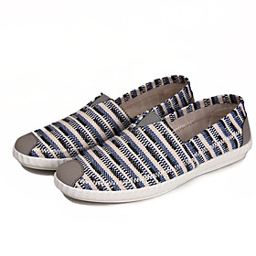 Men's Loafers  Slip-Ons Espadrilles Comfort Shoes Casual Daily Walking Shoes Canvas / Elastic Fabric Wear Proof Blue / Coffee Fall / Spring  Summer