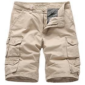 Men's Basic Slim Shorts Bermuda shorts Pants Solid Colored Black Blue Army Green US32 / UK32 / EU40 US34 / UK34 / EU42 US36 / UK36 / EU44