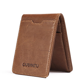Men's Bags Nappa Leather / Cowhide Wallet Buttons Solid Color for Daily / Outdoor Black / Coffee / Fall  Winter